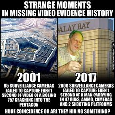 This is what I've been saying! In a massive hotel/casino in Vegas, there's not 1 bit of video surveillance!? 911 Conspiracy, Conspiracy Theories Mind Blown, Conspericy Theories, True Facts, Weird Facts, Crazy Facts, Flat Earth, Earth 2, Inside Job
