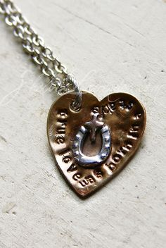 """""""True Love Was Born in a Stable"""" $37 http://shelbilavender.com/necklaces-2/6695412251_d140fcdc8b_z/ Link"""