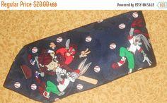 SALE Looney Tunes Mania Tie Bugs Bunny Taz by VintageTieStore