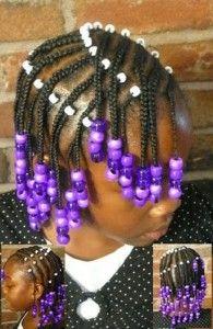Cornrows  Beads Little Girls Natural Hairstyles, Lil Girl Hairstyles, Natural Hair Styles For Black Women, Afro Hairstyles, Children Hairstyles, Toddler Hairstyles, Braids For Kids, Girls Braids, Toddler Braids