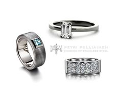 Which one would you choose? Hi End, Stainless Steel Rings, You Choose, White Gold Rings, Diamond Rings, Wedding Rings, Engagement Rings, Jewelry, Instagram