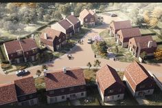 Mohsin Cooper wins unanimous backing for semi-rural West Sussex homes Urban Architecture, Futuristic Architecture, Cluster House, Urban Village, Torrevieja, Community Housing, Suburban House, Urban Fabric, Small Buildings