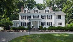 Turn of the Century Chappaqua Colonial traditional exterior