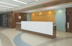 nurse station design - Google Search Hospital Architecture, Healthcare Architecture, Healthcare Design, Lobby Interior, Interior Design, Nurses Station, Medical Office Design, Hospital Design, Counter Design