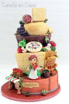 Cake Italian Market - Cake by canelaencasamadrid