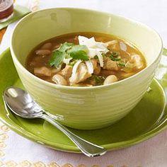 White Chicken Chili Recipe   MyRecipes.com