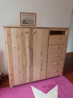 Pallet #Wardrobe with Drawers   Pallet Furniture