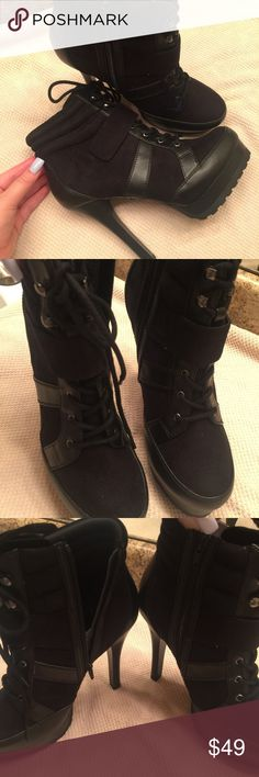"JENNIFER LOPEZ ""Tiempo"" Boots Brand new with box! (Box is a little worn). 1 inch platform 5 inch heel! Jennifer Lopez Shoes Ankle Boots & Booties"