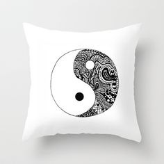 Yin Yang Throw Pillow by Abby Mitchell - $20.00