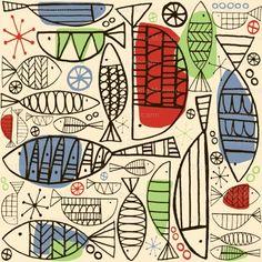 fish print. love it.