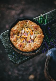Peach Galette with Pistachio Frangipane and Lavender - Call Me Cupcake Just Desserts, Dessert Recipes, Call Me Cupcake, Culinary Lavender, Biscuits, Sweet Pie, Toasted Almonds, Salted Butter, Galette