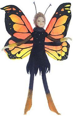 Bendable Petal Fairies Monarch Butterfly Fairy  Price $23.99 Butterfly Gifts, Butterfly Fairy, Butterfly Decorations, Monarch Butterfly, Fairy Gifts, Fairy Jewelry, Fairy Doors, Flower Fairies, Batgirl