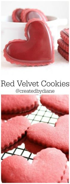 Red Velvet Cut Out Cookies with Red Velvet Icing @createdbydiane