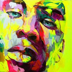 Palette knife portrait Face Oil painting Character figure canva Hand painted Francoise Nielly wall Art picture for living Abstract Face Art, Abstract Portrait, Cheap Paintings, Colorful Paintings, Pop Art, L'art Du Portrait, Portraits, Images D'art, Palette Knife Painting