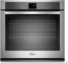 """Same whirlpool, only $1100 Whirlpool WOS51EC7AS 27"""" Single Electric Wall Oven with 4.3 cu. ft. Self-Cleaning Oven, SteamClean Option, Extra-Large Oven Window and Hidde..."""