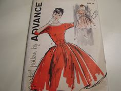 Vintage 1950's 60's Advance 9441 Dress Sewing by TheLastPixie, $26.50