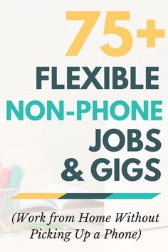 Looking for chat, email, data entry and other flexible non-phone jobs you can do from home? You've found them! Click through to find out where all the non-phone jobs are and who's hiring -- more than 75 companies listed. Earn Money From Home, Earn Money Online, Way To Make Money, Quick Money, Work From Home Opportunities, Work From Home Tips, Work At Home, Marketing Website, Affiliate Marketing