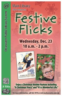 """Enjoy a Christmas Double Feature including: """"A Christmas Story"""" and """"It's a Wonderful Life."""""""