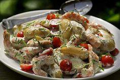 Potato & Shrimp Salad w/Green Goddess Dressing