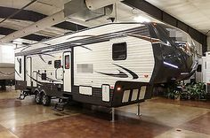 rvs: New 2016 373QSI Slide Out 5th Fifth Wheel Toy Hauler Camper with Power Bunks #RVS - New 2016 373QSI Slide Out 5th Fifth Wheel Toy Hauler Camper with Power Bunks...