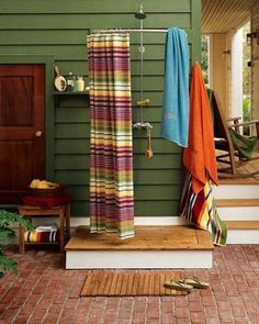 I would love to have an outdoor shower someday. Great for the beach, long runs, and dogs. No need to worry about mildew.