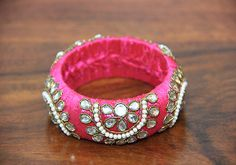 Thick Pink Zardozi Bangle – Desically Ethnic
