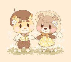 Animal Crossing Fan Art, Animal Crossing Villagers, Baby Animals, Cute Animals, Art Prompts, Kawaii Chibi, Cs Go, Cute Illustration, Softies