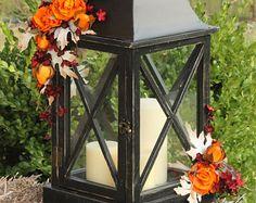 Fall/Autumn Lantern Centerpiece- Autumn Wedding, Thanksgiving Centerpiece
