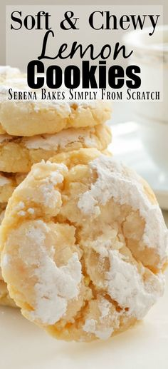 Soft and Chewy Lemon Cookies | Serena Bakes Simply From Scratch