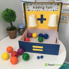 10 Easy, Simple Addition Activities for Kids Are your students frustrated with the concept of addition? Make addition fun in the classroom, or even at home, with these creative, easy and effective hands-on activities. Maths Eyfs, Numeracy Activities, Addition Activities, Addition Games, Math Addition, Preschool Learning, Kindergarten Activities, Preschool Activities, Addition And Subtraction