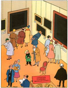 """Flupke expose"", Quick et Flupke par Hergé."