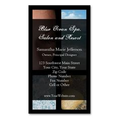 Blue and Black Luxury Spa Resort Theme Business Card Templates. This is a fully customizable business card and available on several paper types for your needs. You can upload your own image or use the image as is. Just click this template to get started! Spa Business Cards, Business Travel, Black Luxury, Luxury Spa, Resort Spa, Card Templates, Salons, Things To Come, Blue