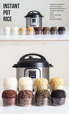 How to Make Rice in the Pressure Cooker. Instructions for 8 kinds of Rice #instantpot