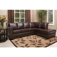 Shop for ABBYSON LIVING Glendale Premium Top-grain Leather Sectional Sofa. Get free delivery at Overstock.com - Your Online Furniture Shop! Get 5% in rewards with Club O!