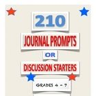 Do you need some prompts or discussion starters that students relate to? Do you have reluctant writers who say they don't like to write? These 210 ...