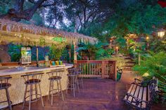 tiki bar in backyard!