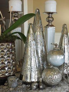 Mercury Glass Christmas Trees Trees Amp Topiary Home