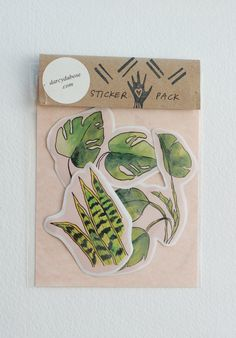 A set of beautiful plants illustration stickers by Darcy Dubose! 3 stickers, each approx. Printed on acid-free matte paper (not for outdoor use. Artist Alley, Paper Crafts Origami, Cool Stickers, Floral Illustrations, Art Store, Packaging Design Inspiration, Craft Fairs, Sticker Design, Watercolor Art