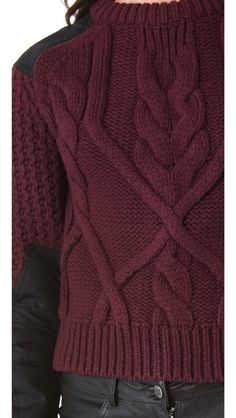 not handknit but cool cable!  Alexander McQueen Cable Sweater