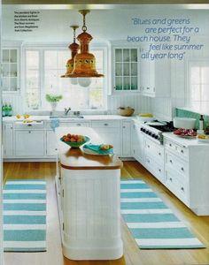 Classic beach house kitchen in Coastal Living July 2012 by Lynn Morgan Design