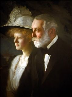 Henry Clay  Frick And His Daughter Helen by Tarbell.
