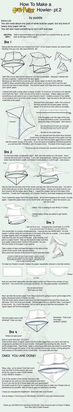 How to Make a HP Howler- pt.2 by ~mizutamari on deviantART
