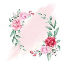 Flower Background Wallpaper, Framed Wallpaper, Flower Backgrounds, Logo Floral, Flower Logo, Flower Graphic Design, Instagram Frame, Instagram Highlight Icons, Floral Border