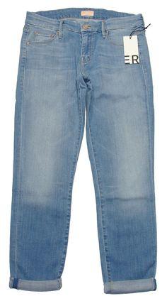 NEW Mother Jeans Womens THE LOOKER Skinny Stretch Denim Light Kitty Blue 31 $196 #Mother #SlimSkinny