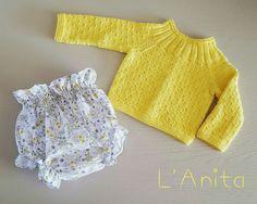 Jersey tejido con algodón y pololo. L'Anita