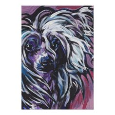 Chinese Crested Pop Art Poster Print