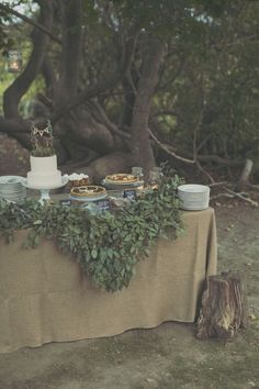dessert spread at one of the most gorgeous fall weddings I've ever seen {Fall Wedding at Sweet Berry Farm / Read more - http://www.stylemepretty.com/rhode-island-weddings/newport-ri/2014/03/21/fall-wedding-at-sweet-berry-farm/}