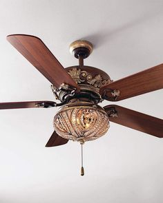 Shop Chantel Ceiling Fan & Light Kit from Minka Lighting at Horchow, where you'll find new lower shipping on hundreds of home furnishings and gifts. Ceiling Fan Chandelier, Bronze Ceiling Fan, Chandeliers, Ceiling Lights, Elegant Ceiling Fan, Fancy Ceiling Fan, Antique Ceiling Fans, Traditional Ceiling Fans, Art Nouveau