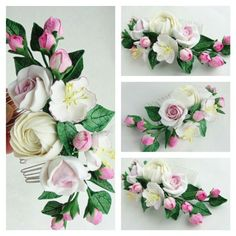 Wedding flowers. Wedding accessories. Wedding. Handmade flowers. Flowers. Handmade accessories. Accessories. Flowers comb. Comb.