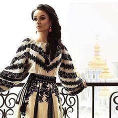 Ukraine, vyshyvanka from Yyliia Magdych Folk Fashion, Ethnic Fashion, Hijab Fashion, Fashion Dresses, Womens Fashion, Ukrainian Dress, Mode Boho, Embroidered Clothes, Costume